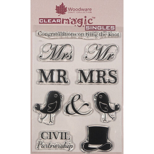 Creative Expressions - Woodware - Clear Acrylic Stamps - Singles - A Civil Wedding