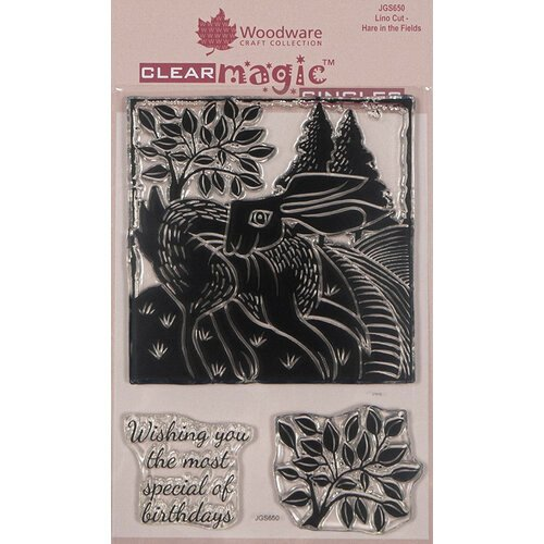 Creative Expressions - Woodware - Clear Acrylic Stamps - Singles - Hare in the Fields