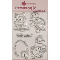 Creative Expressions - Woodware - Clear Acrylic Stamps - Singles - Cheeky Critters