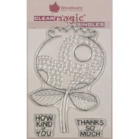 Creative Expressions - Woodware - Clear Acrylic Stamps - Singles - Bold Blooms - Lesley