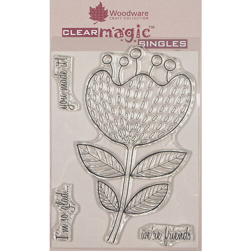 Creative Expressions - Woodware - Clear Acrylic Stamps - Singles - Bold Blooms - Katrina