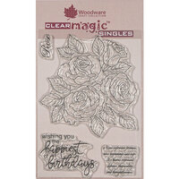 Creative Expressions - Woodware - Clear Acrylic Stamps - Singles - Classic Rose Bunch