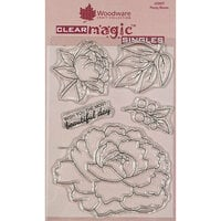 Creative Expressions - Woodware - Clear Acrylic Stamps - Singles - Peony Bloom