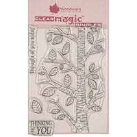 Creative Expressions - Woodware - Clear Acrylic Stamps - Singles - Silver Birch Tree