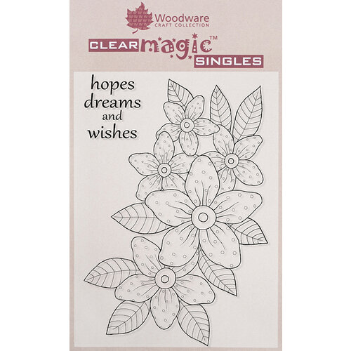 Creative Expressions - Woodware - Clear Acrylic Stamps - Sunny Daisies