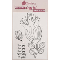 Creative Expressions - Woodware - Clear Acrylic Stamps - Bold Blooms - Quincy