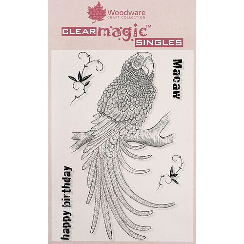Creative Expressions - Woodware - Clear Acrylic Stamps - Magnificent Macaw