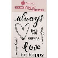 Creative Expressions - Woodware - Clear Acrylic Stamps - Always