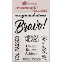 Creative Expressions - Woodware - Clear Acrylic Stamps - Bravo