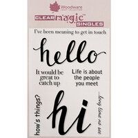 Creative Expressions - Woodware - Clear Acrylic Stamps - Hello