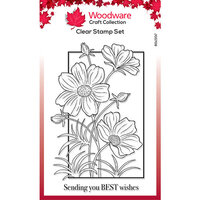 Creative Expressions - Woodware - Clear Acrylic Stamps - Cosmos Collection