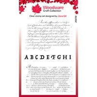 Creative Expressions - Woodware - Clear Acrylic Stamps - Text Background