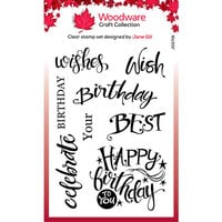 Creative Expressions - Woodware - Clear Acrylic Stamps - A Birthday Moment