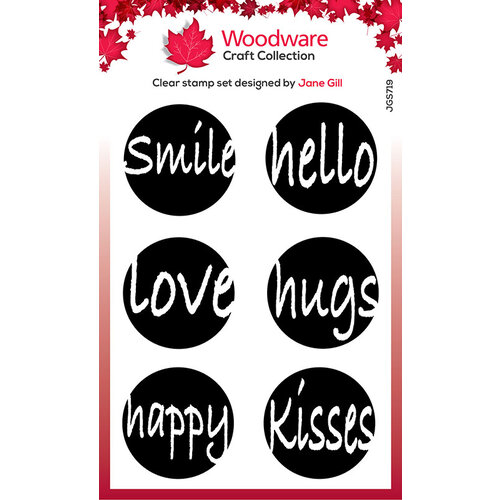 Creative Expressions - Woodware - Clear Acrylic Stamps - Circle Words