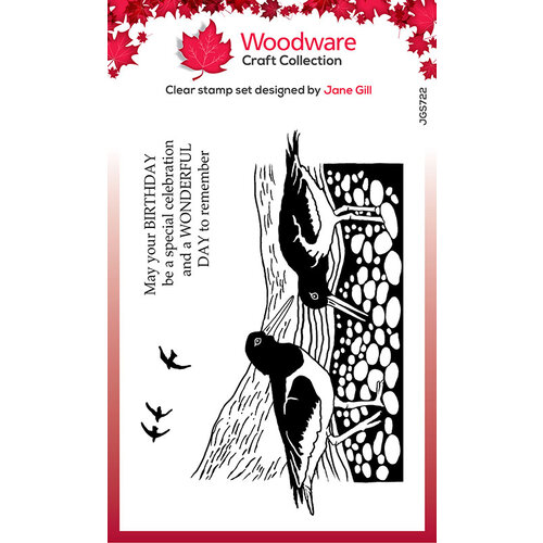 Creative Expressions - Woodware - Clear Acrylic Stamps - Lino Cut - Oyster Catchers 4 in x 6 in Stamp