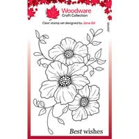 Creative Expressions - Woodware - Clear Photopolymer Stamps - Petal Trio