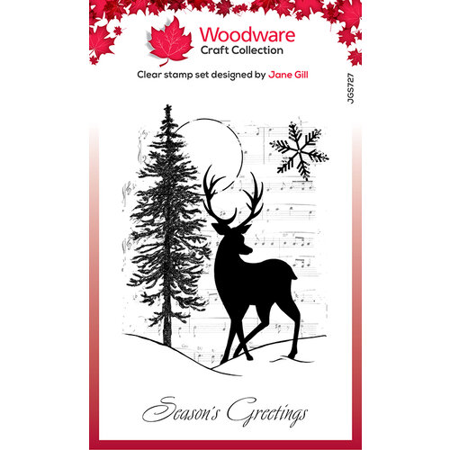 Creative Expressions - Woodware - Christmas - Clear Acrylic Stamps - Singles - Musical Deer