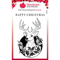 Creative Expressions - Woodware - Christmas - Clear Acrylic Stamps - Singles - Circle Deer