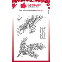 Creative Expressions - Woodware - Clear Acrylic Stamps - Singles - Sketchy Pine Branch