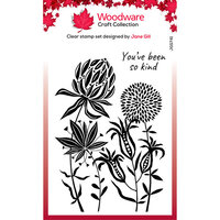 Creative Expressions - Woodware - Clear Acrylic Stamps - Singles - Autumn Flowers