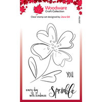 Creative Expressions - Woodware - Clear Photopolymer Stamps - Poppy Sketch