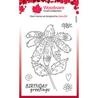 Creative Expressions - Woodware Craft Collection - Clear Photopolymer Stamps - Fuzzy Flowers Daisy