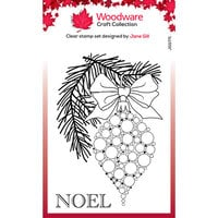 Creative Expressions - Christmas - Woodware - Clear Photopolymer Stamps - Singles - Bubble Bauble And Pine Branch