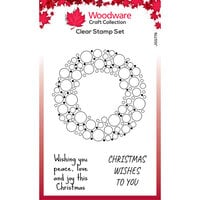 Creative Expressions - Christmas - Woodware - Clear Photopolymer Stamps - Singles - Bubble Holiday Wreath