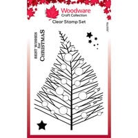 Creative Expressions - Woodware Craft Collection - Christmas - Clear Photopolymer Stamps - Bubble Twiggy Tree