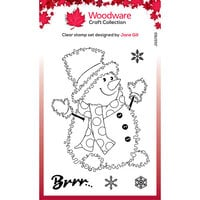 Creative Expressions - Woodware Craft Collection - Christmas - Festive Fuzzies - Clear Photopolymer Stamps - Snowman