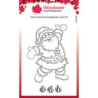 Creative Expressions - Christmas - Woodware - Festive Fuzzies - Clear Photopolymer Stamps - Singles - Santa