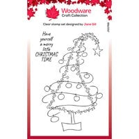 Creative Expressions - Woodware - Festive Fuzzies - Clear Photopolymer Stamps - Singles - Tall Christmas Tree