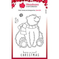 Creative Expressions - Woodware Craft Collection - Christmas - Festive Fuzzies - Clear Photopolymer Stamps - Polar Bear