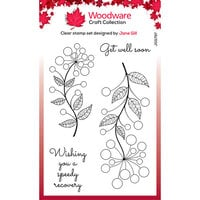 Creative Expressions - Woodware Craft Collection - Clear Photopolymer Stamps - Bubble Bloom Abbie