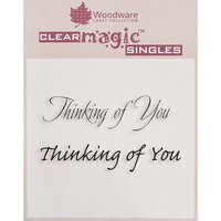 Creative Expressions - Woodware Just Words - Clear Photopolymer Stamps - Thinking Of You