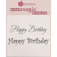Creative Expressions - Woodware Just Words - Clear Photopolymer Stamps - Happy Birthday