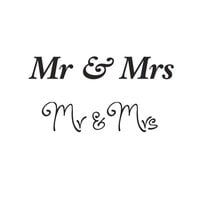 Creative Expressions - Woodware Clear Minis - Clear Photopolymer Stamps - Mr and Mrs