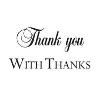 Creative Expressions - Woodware Clear Minis - Clear Photopolymer Stamps - Thank You