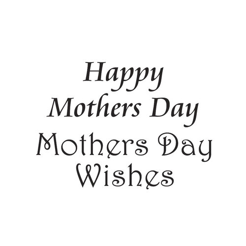 Creative Expressions - Woodware Clear Minis - Clear Photopolymer Stamps - Happy Mother's Day