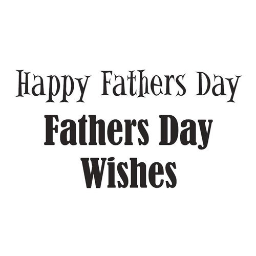 Creative Expressions - Woodware Clear Minis - Clear Photopolymer Stamps - Happy Father's Day