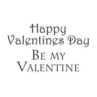 Creative Expressions - Woodware Clear Minis - Clear Photopolymer Stamps - Happy Valentine's Day