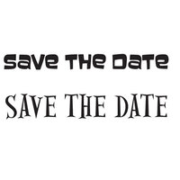 Creative Expressions - Woodware - Clear Photopolymer Stamps - Singles - Save The Date