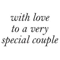 Creative Expressions - Woodware - Clear Photopolymer Stamps - Singles - With Love To A Special Couple