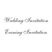 Creative Expressions - Woodware Just Words - Clear Photopolymer Stamps - Wedding And Evening Invitations