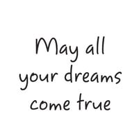 Creative Expressions - Woodware Just Words - Clear Photopolymer Stamps - May All Your Dreams