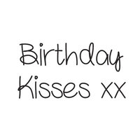 Creative Expressions - Woodware Just Words - Clear Photopolymer Stamps - Birthday Kisses
