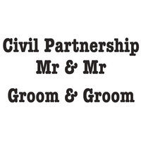 Creative Expressions - Woodware Just Words - Clear Photopolymer Stamps - Civil Partnership Mr and Mr