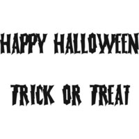 Creative Expressions - Woodware Just Words - Clear Photopolymer Stamps - Halloween - Happy Halloween