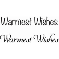 Creative Expressions - Woodware Just Words - Clear Photopolymer Stamps - Warmest Wishes