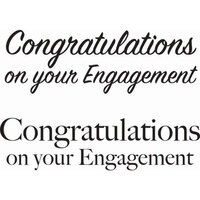 Creative Expressions - Woodware Just Words - Clear Photopolymer Stamps - Engagement